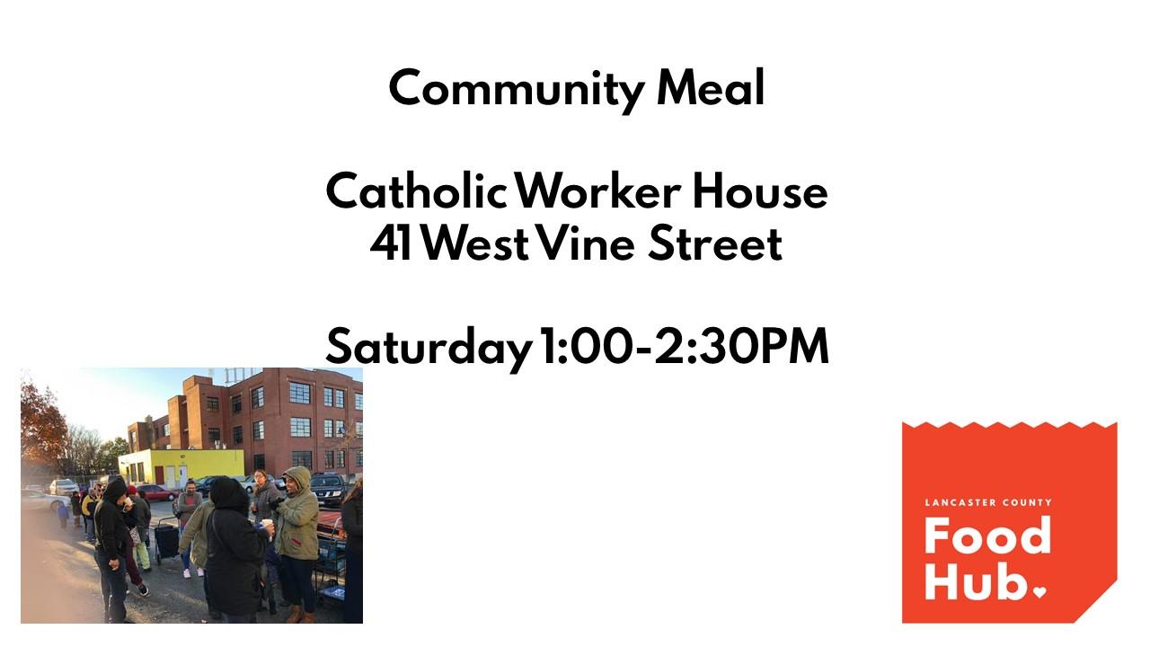 Lancaster County Food Hub: Community Meals
